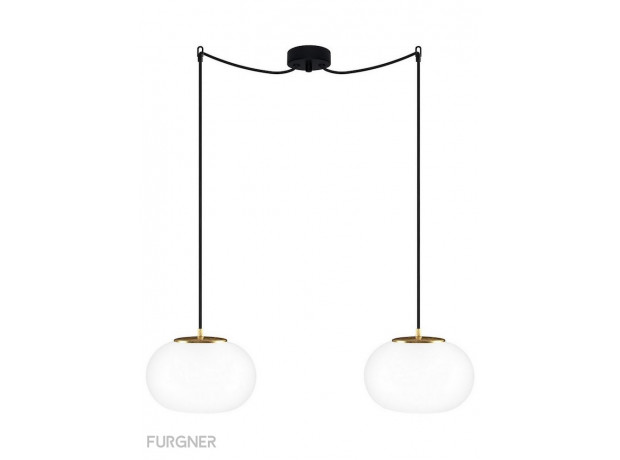 Sotto Luce -DOSEI Elementary 2/S double pendant lamp Gold