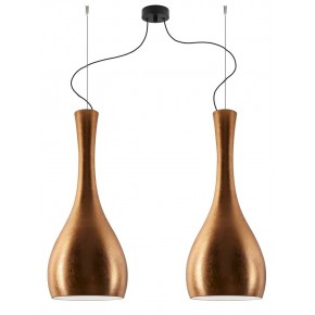 Sotto Luce - ITTEKI Elementary 2/S double pendant lamp Copper