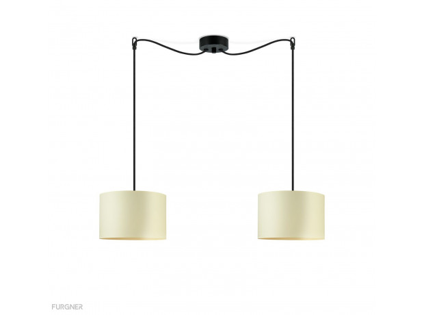 Sotto Luce Mika Elementary S 2 Ceiling Lamp Ecru
