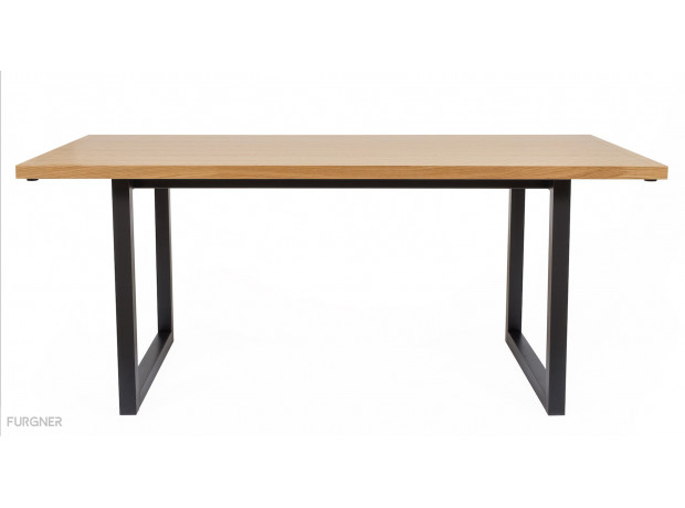 Woodman - Mora Dining Table Herringbone Print