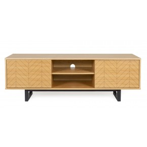 Woodman - Mora TV Unit Drawers Herringbone Print