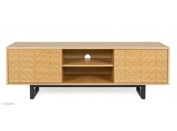 Free Shipping Woodman Mora Tv Unit Drawers Herringbone Print