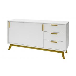 Woodman - Kensal Nordic Sideboard Sliding Door
