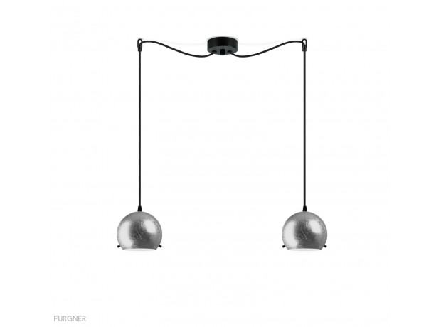 Sotto Luce - MYOO Elementary 2/S Pendant lamp Metal/Black