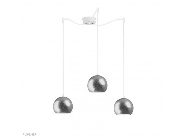 Sotto Luce - MYOO Elementary 3/S Pendant lamp Metal/White