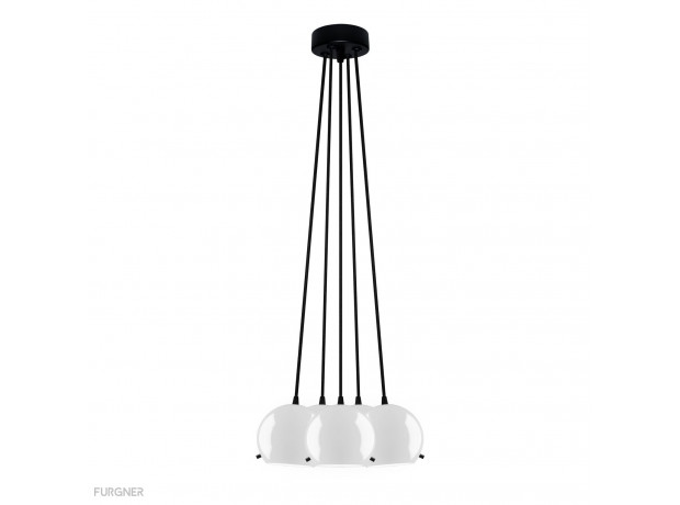 Sotto Luce - MYOO Elementary 5B/S Pendant lamp White/Black