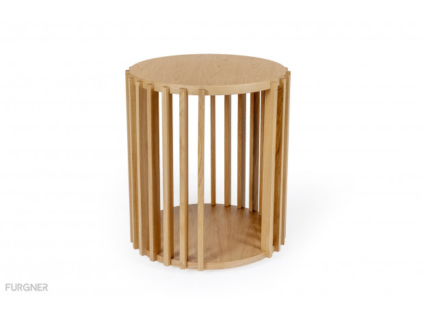 Woodman - Drum Side Table