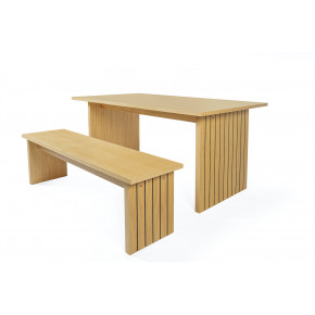 Woodman - Stripe Dining Table