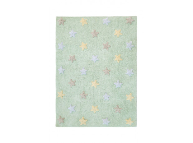 LORENA CANALS - TRICOLOR STARS SOFT MINT RUG