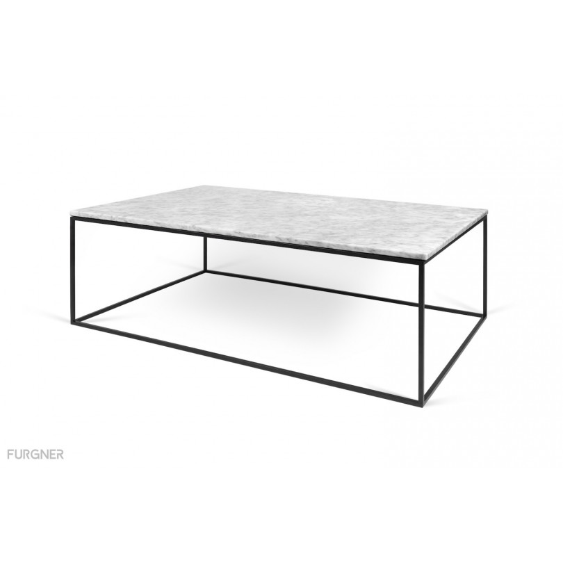 Gleam White Marble Black Coffee Table By Temahome