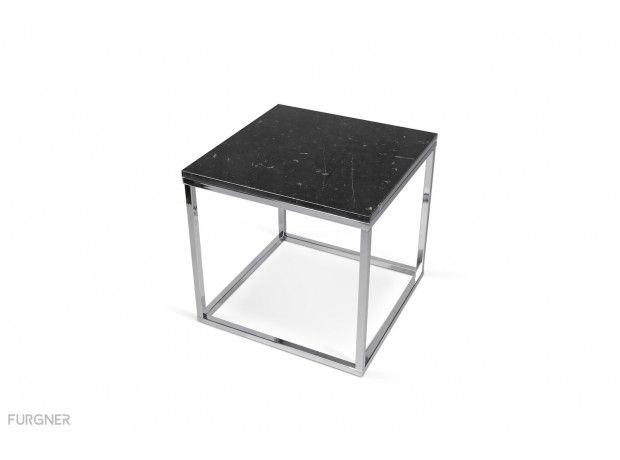 Temahome Prairie Coffee Table Marble 50 Chrome Legs Furgner
