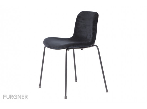 Norr11 - Goose Chair Velvet Black Legs