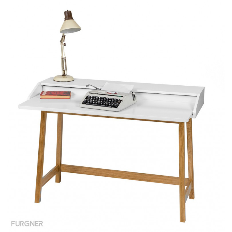 Woodman st james compact desk white furgner